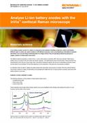 Application note:  Analyse Li-ion battery anodes with the inVia™ confocal Raman microscope