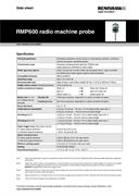 Data sheet:  RMP600 radio machine probe
