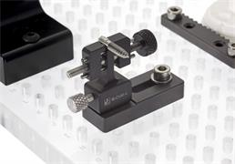 Fixturing example using a micro vice clamp
